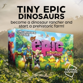 Run a dino ranch in Tiny Epic Dinosaurs!