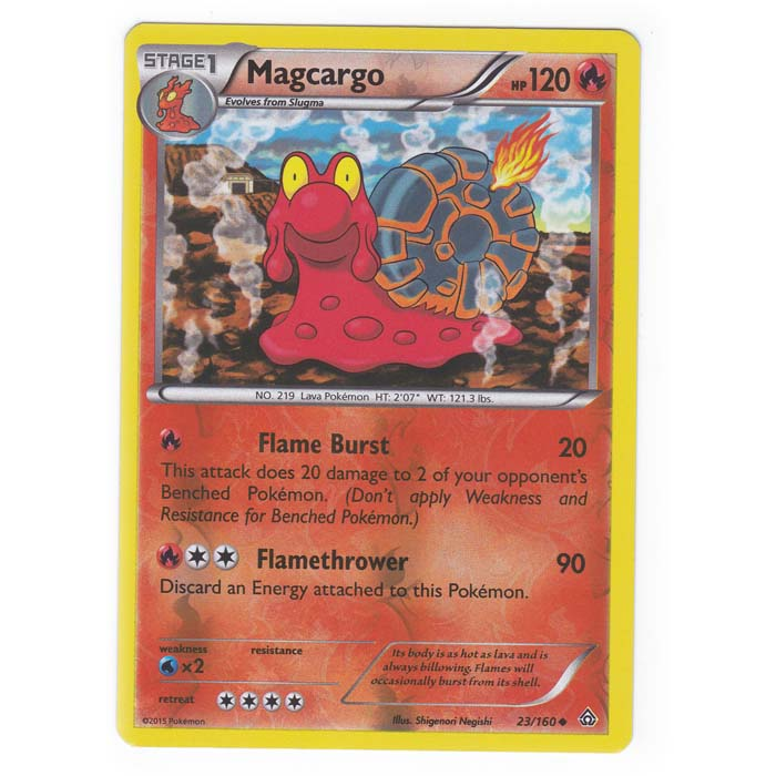 Reverse Foil Primal Clash 23//160 Magcargo - Uncommon