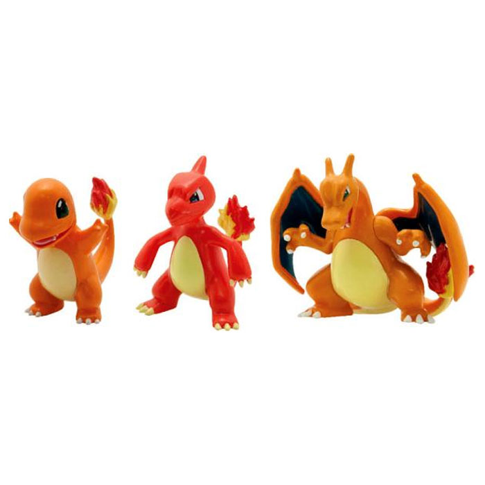 Pokemon - 3 Pack Evolution Figures - Charmander, Charmeleon & Charizard