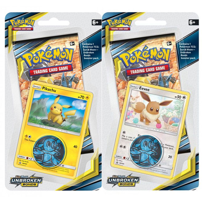 Pokemon - Sun & Moon - Unbroken Bonds - Checklane Blister - Pikachu & Eevee