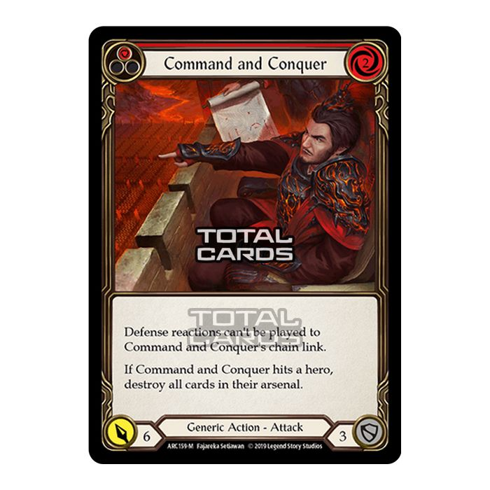 Fresh Packed Majestic ARC159-M Command and Conquer Flesh and Blood TCG
