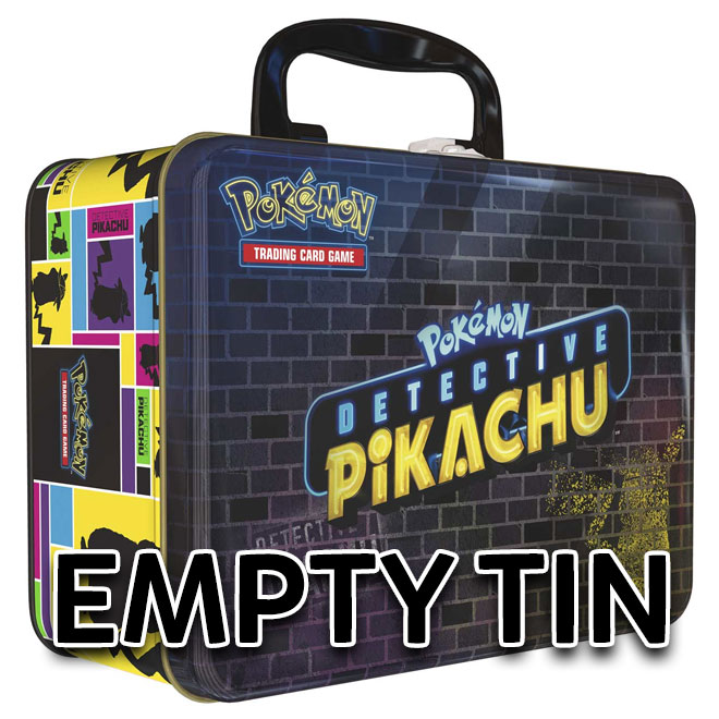 (Empty) Detective Pikachu - Collectors Chest Tin