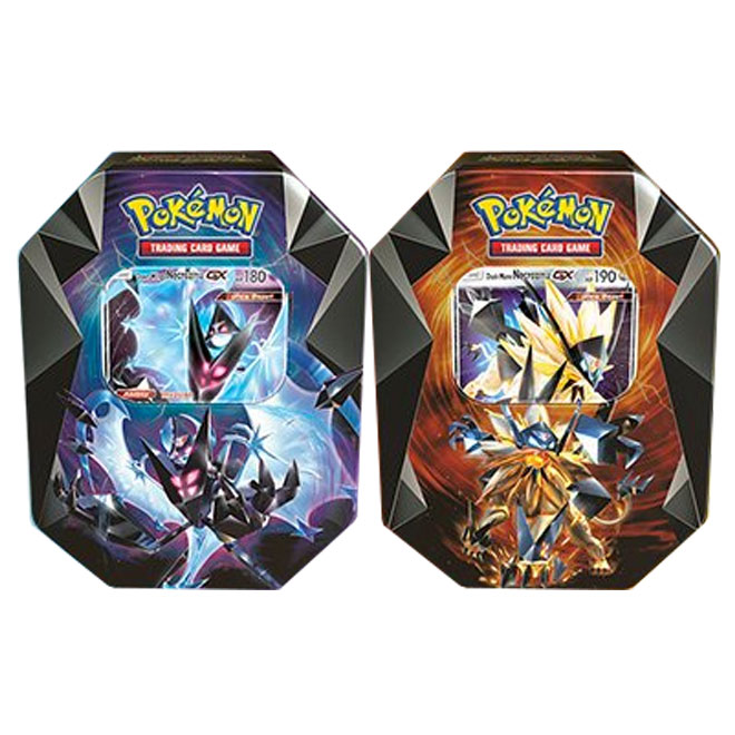 Pokemon - Necrozma Prism Tins - Dawn Wings & Dusk Mane Necrozma Tins
