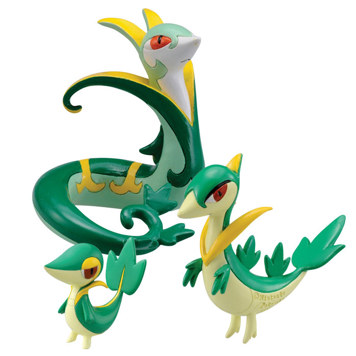 Pokemon - 3 Pack Evolution Figures - Snivy, Servine & Serperior