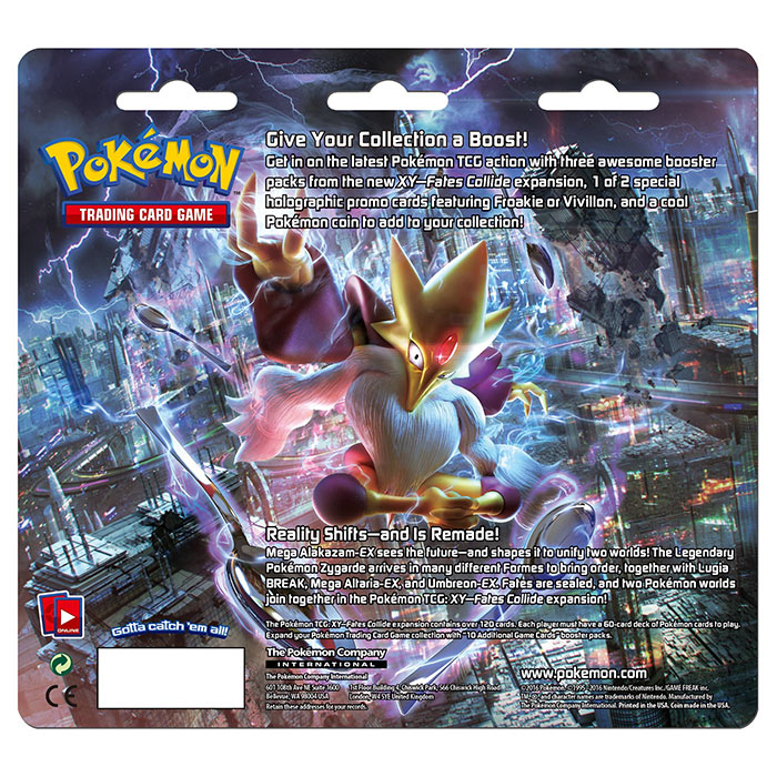 XY Fates Collide - Froakie 3 Pack Blister