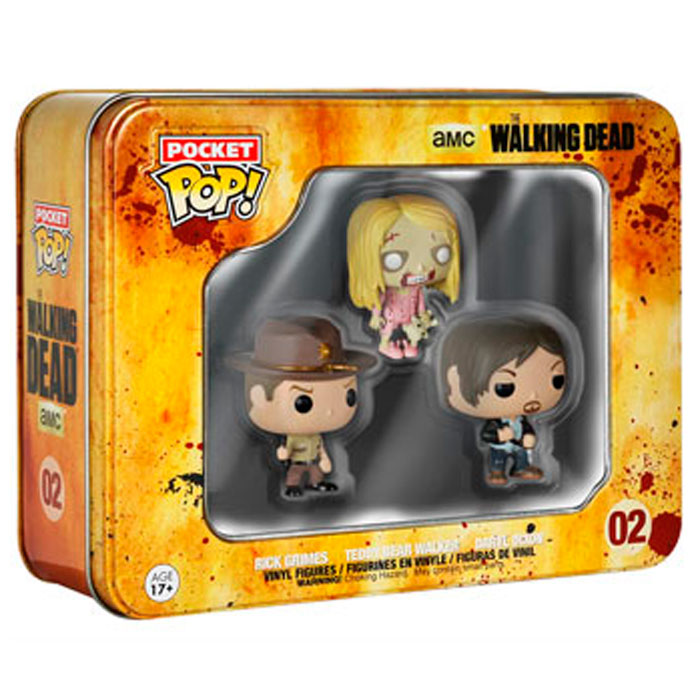Pocket POP! - The Walking Dead - #02 Rick Grimes, Daryl Dixon and Teddy Bear 1.6