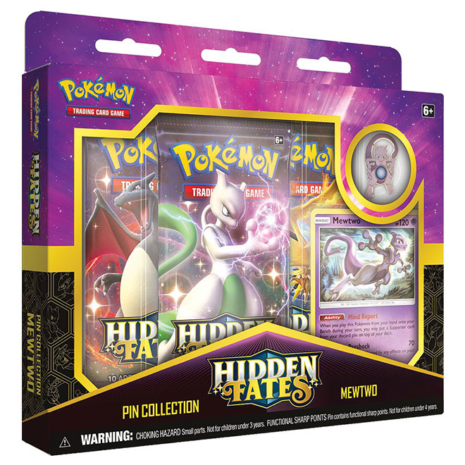 Pokemon - Hidden Fates - Pin Collection - Mewtwo
