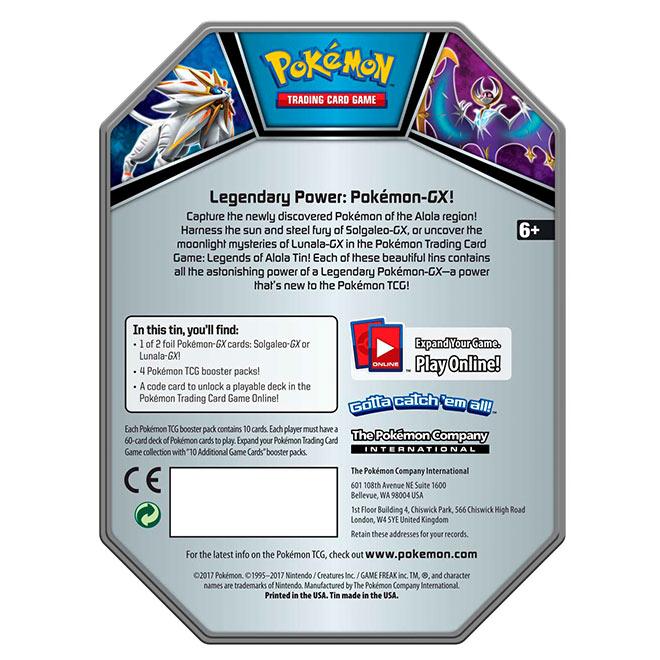 Pokemon - Legends of Alola - Lunala GX Tin