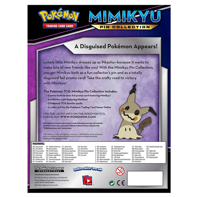 Pokemon - Mimikyu - Pin Collection Box