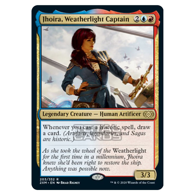 2x Jhoira Weatherlight Captain 203//332 Near Mint MTG Double Masters