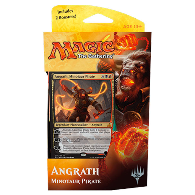 Magic The Gathering - Rivals of Ixalan - Planeswalker Deck - Angrath Minotaur Pirate & Vraska Scheming Gorgon