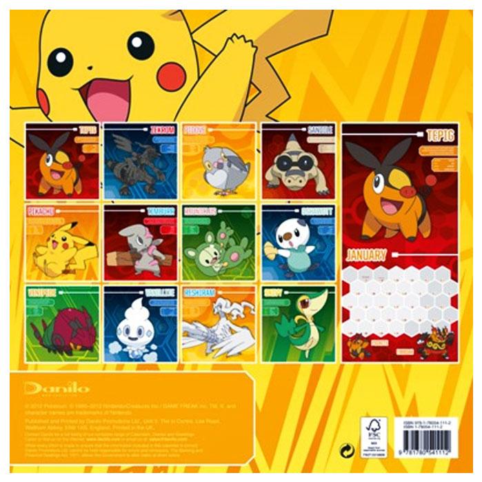 Official Pokemon 2013 Calendar