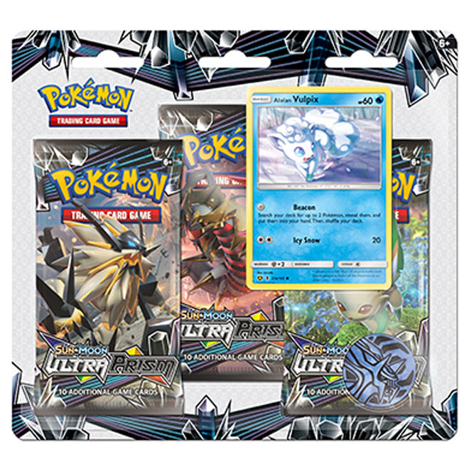 Pokemon - Sun & Moon - Ultra Prism - 3 Pack Blister - Alolan Vulpix & Porygon-Z