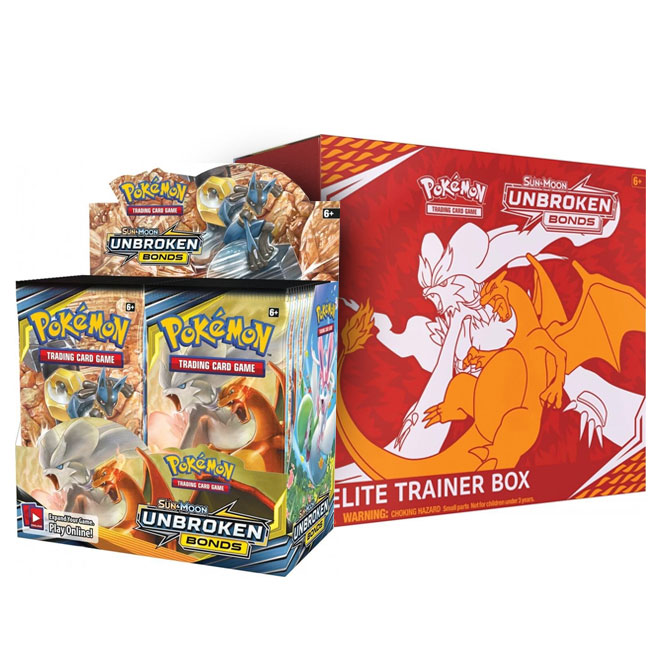Pokemon - Sun & Moon - Unbroken Bonds - Booster Box & Elite Trainer Box