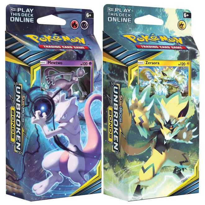 Pokemon - Sun & Moon - Unbroken Bonds - Theme Decks - Mewtwo & Zeraora