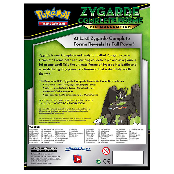 Pokemon - Zygarde Complete Forme Pin Collection Box