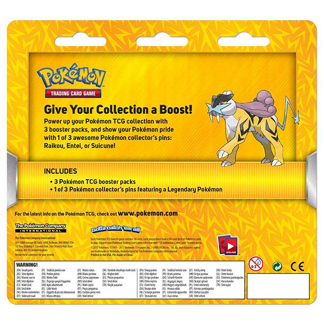 Pokemon Raikou - 3 Pack Pin Blister