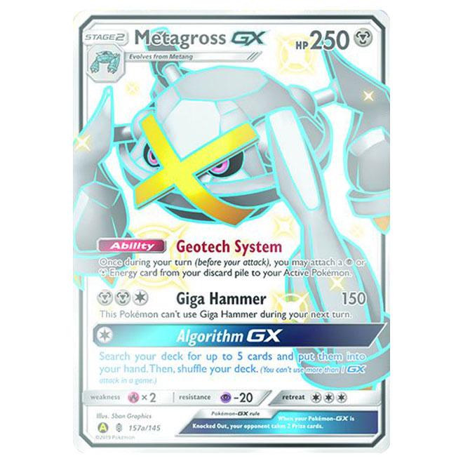 157a//145 Metagross GX Hidden Fates Poké Ball Collection Promo Pokemon Card