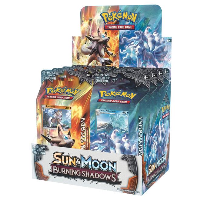 Pokemon - Sun & Moon - Burning Shadows - Theme Deck Set (Lycanroc & Ninetails)