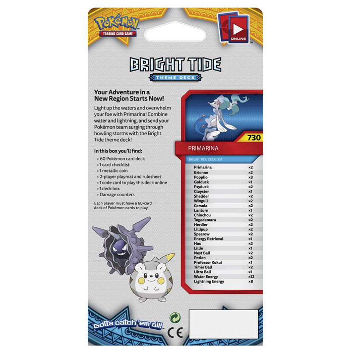 Pokemon - Sun & Moon - Base Set - Primarina - Theme Deck