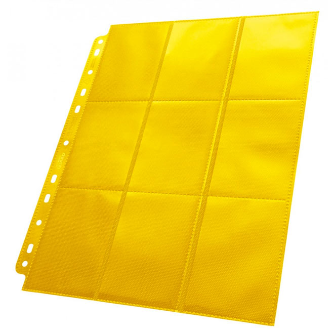 Ultimate Guard - 18-Pocket Pages - Side-Loading Yellow (50)