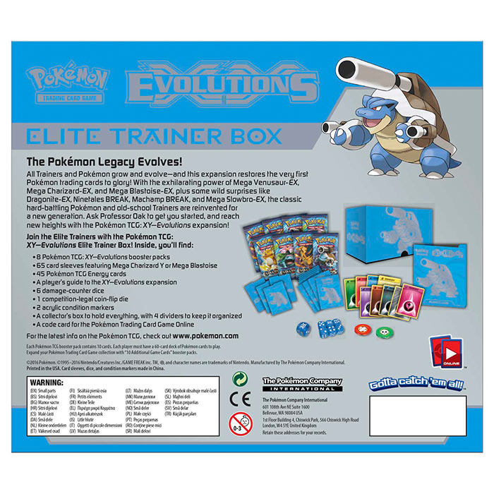 Pokemon - XY Evolutions - Mega Blastoise - Elite Trainer Box