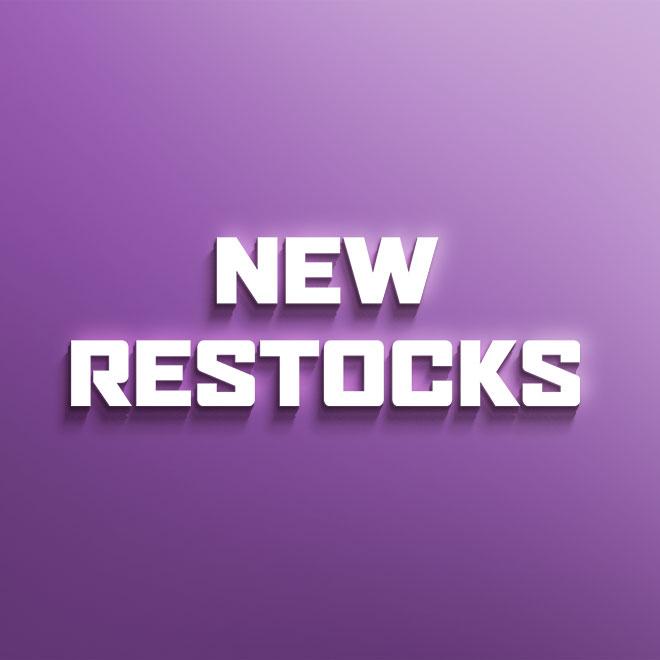 New Restocks – 2nd March