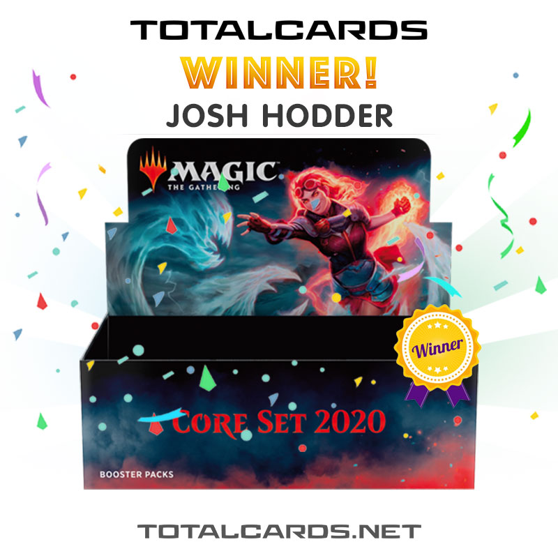 The Magic the Gathering Core Set 2020 Booster Box Giveaway Winner is...