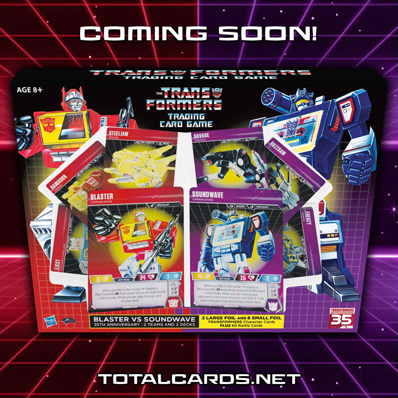 Transformers TCG Blaster vs Soundwave Deck 35th Anniversary Edition Shipping This Week
