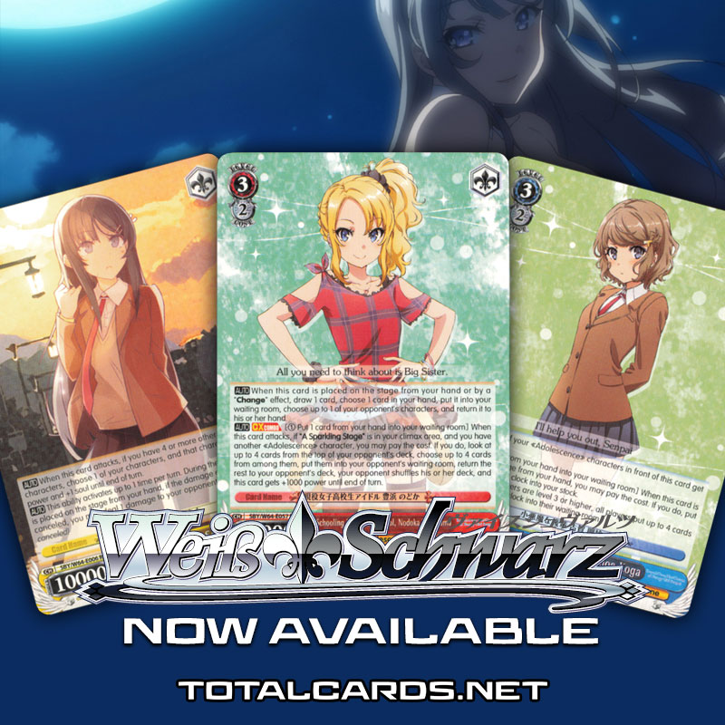 Weiss Schwarz Rascal Does Not Dream of Bunny Girl Senpai Single Cards Now Available