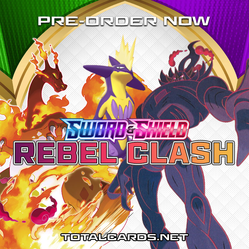 Pokemon Sword and Shield REBEL CLASH 3-Booster Pack Blister Both Sets