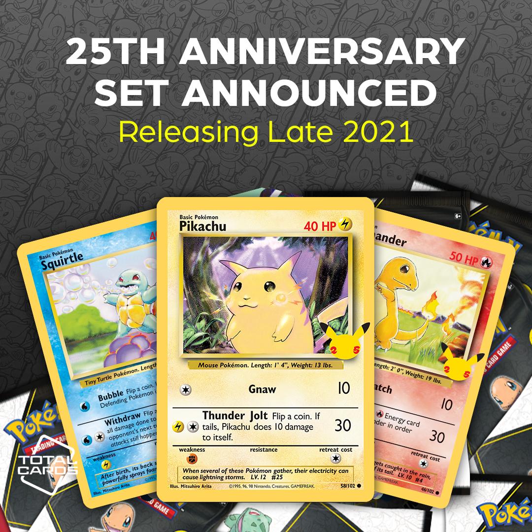 Pokemon 25th Anniversary Announcement - TotalCards.net