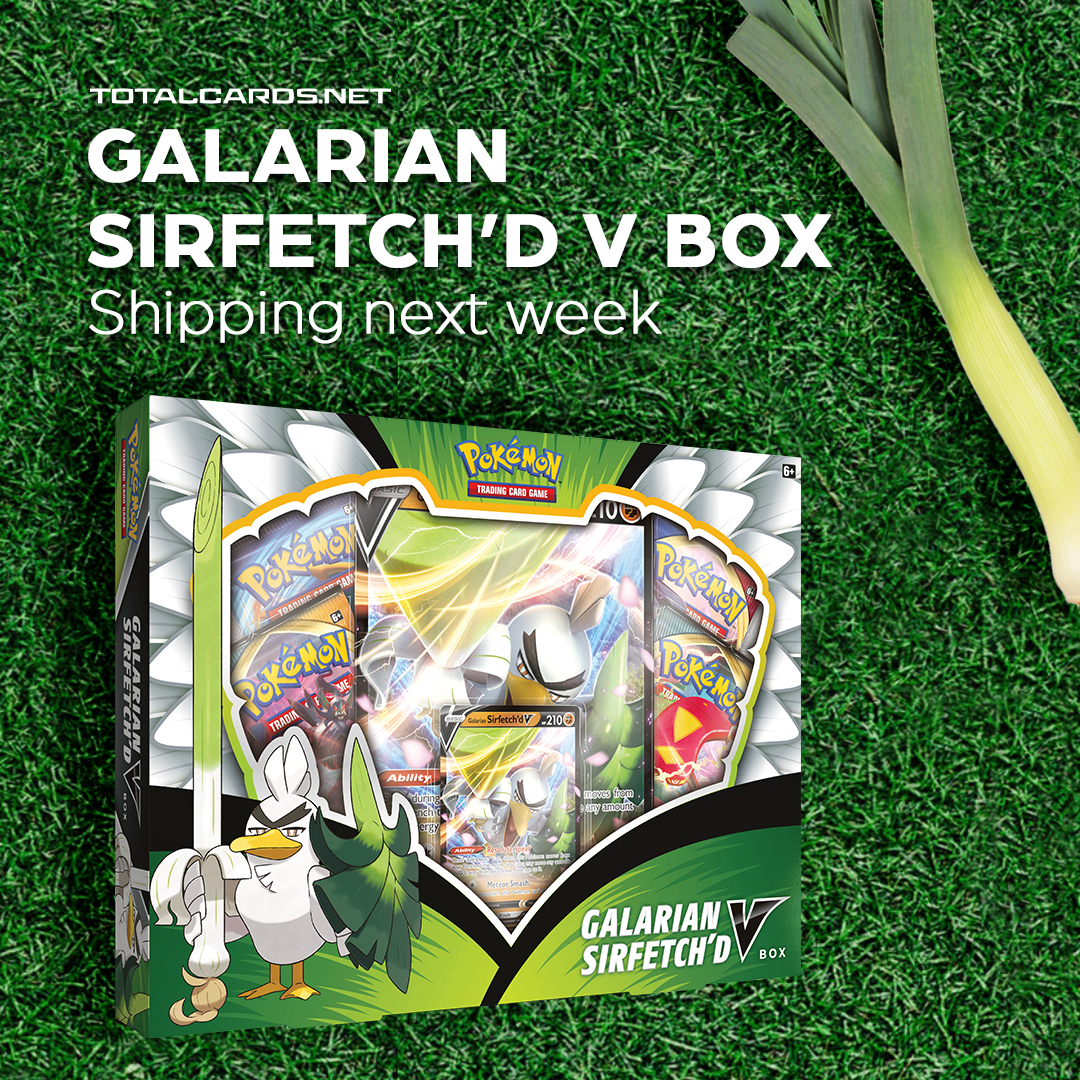 Pokemon - Galarian Sirfetch'd V Box Releases this Friday!!