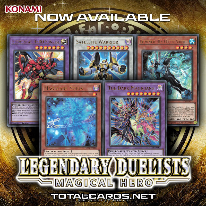 Yu-Gi-Oh! Legendary Duelists Magical Hero Single Cards Now Available