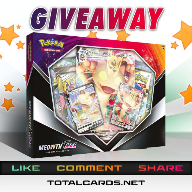 Pokemon Meowth VMAX Special Collection Giveaway