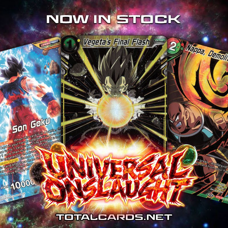 DragonBall Universal Onslaught Single Cards Now in Stock