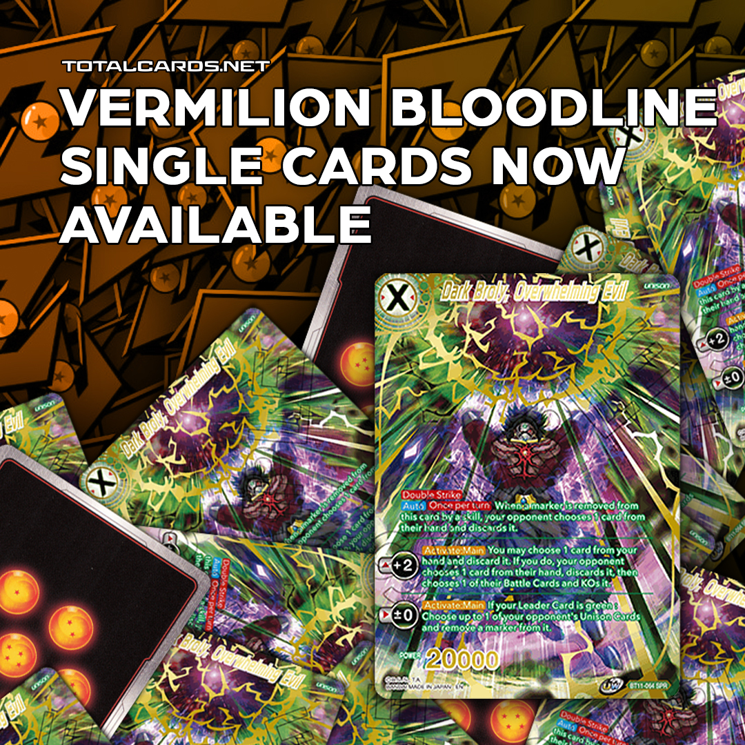 Vermilion Bloodline Singles Are Now in Stock!