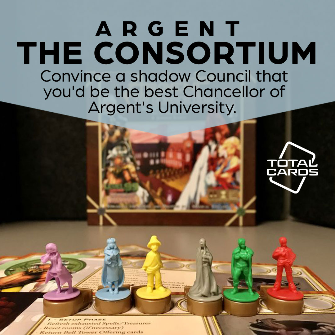 Play a cutthroat worker placement game with Argent - the Consortium!