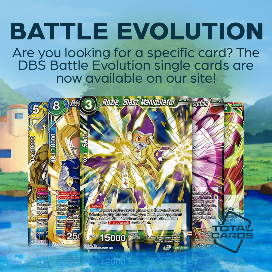 Single Cards now available for Dragon Ball Super - Battle Evolution!
