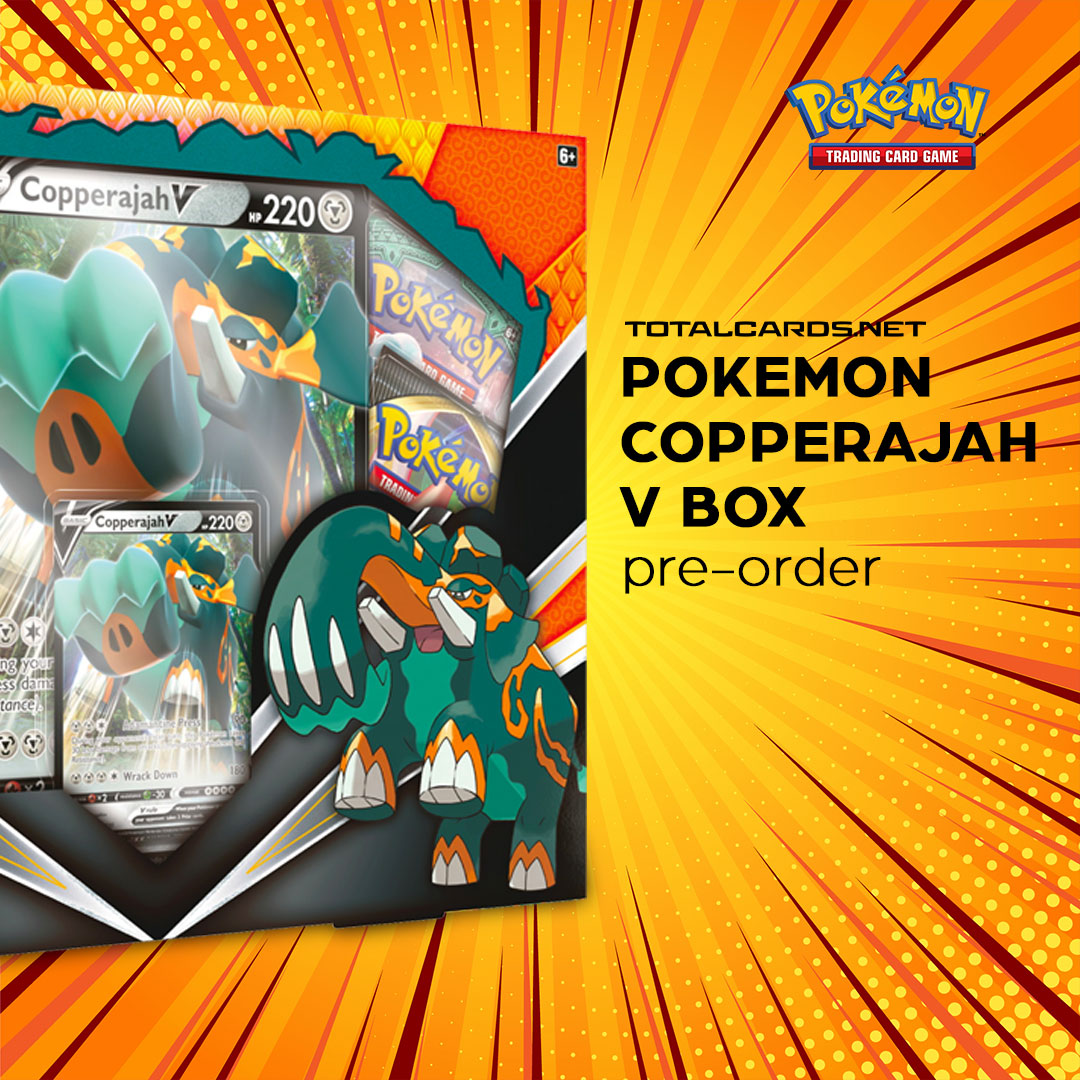 Pokemon Coperajah V Box Available to Pre-Order