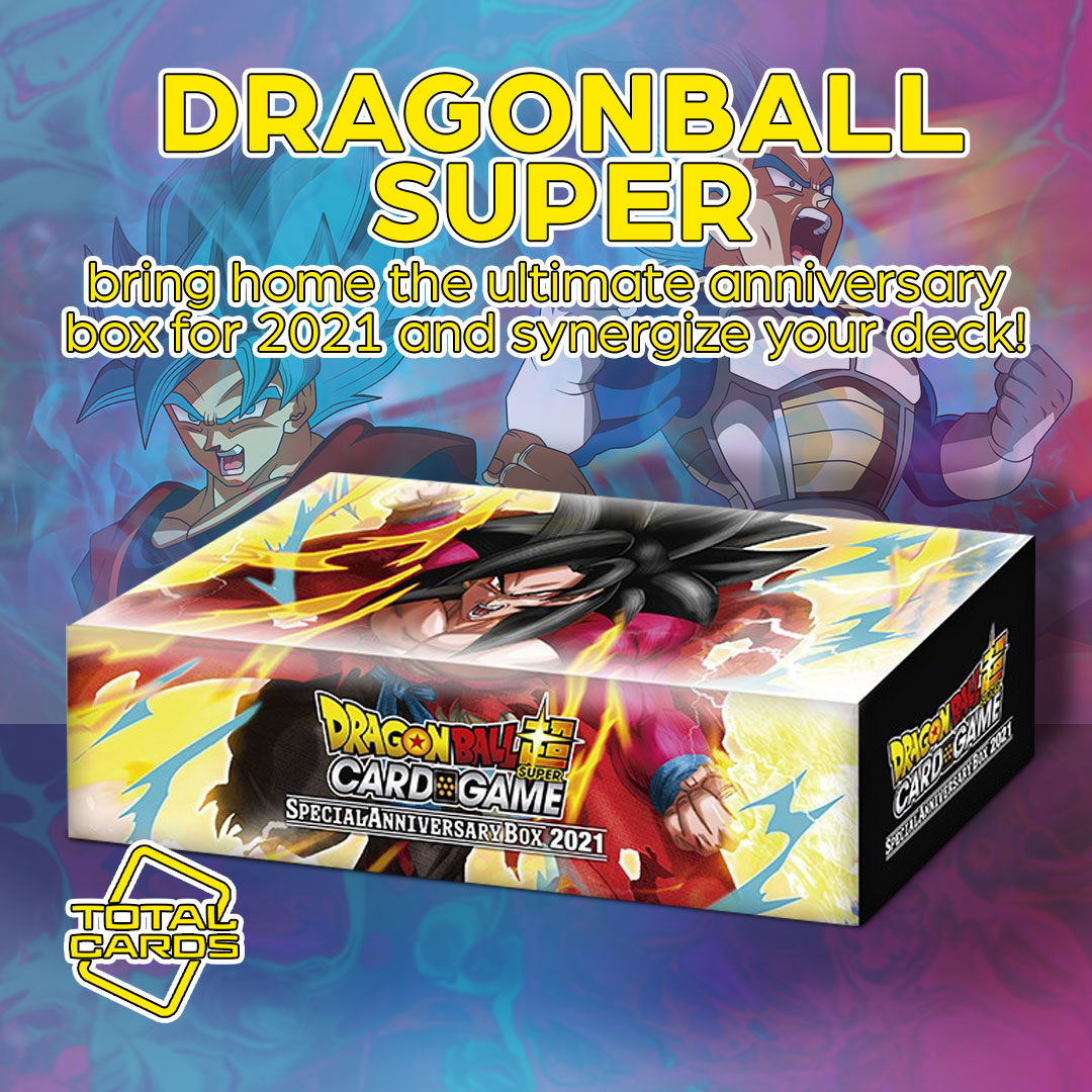Power up with the Dragon Ball Super Special Anniversary Box 2021!
