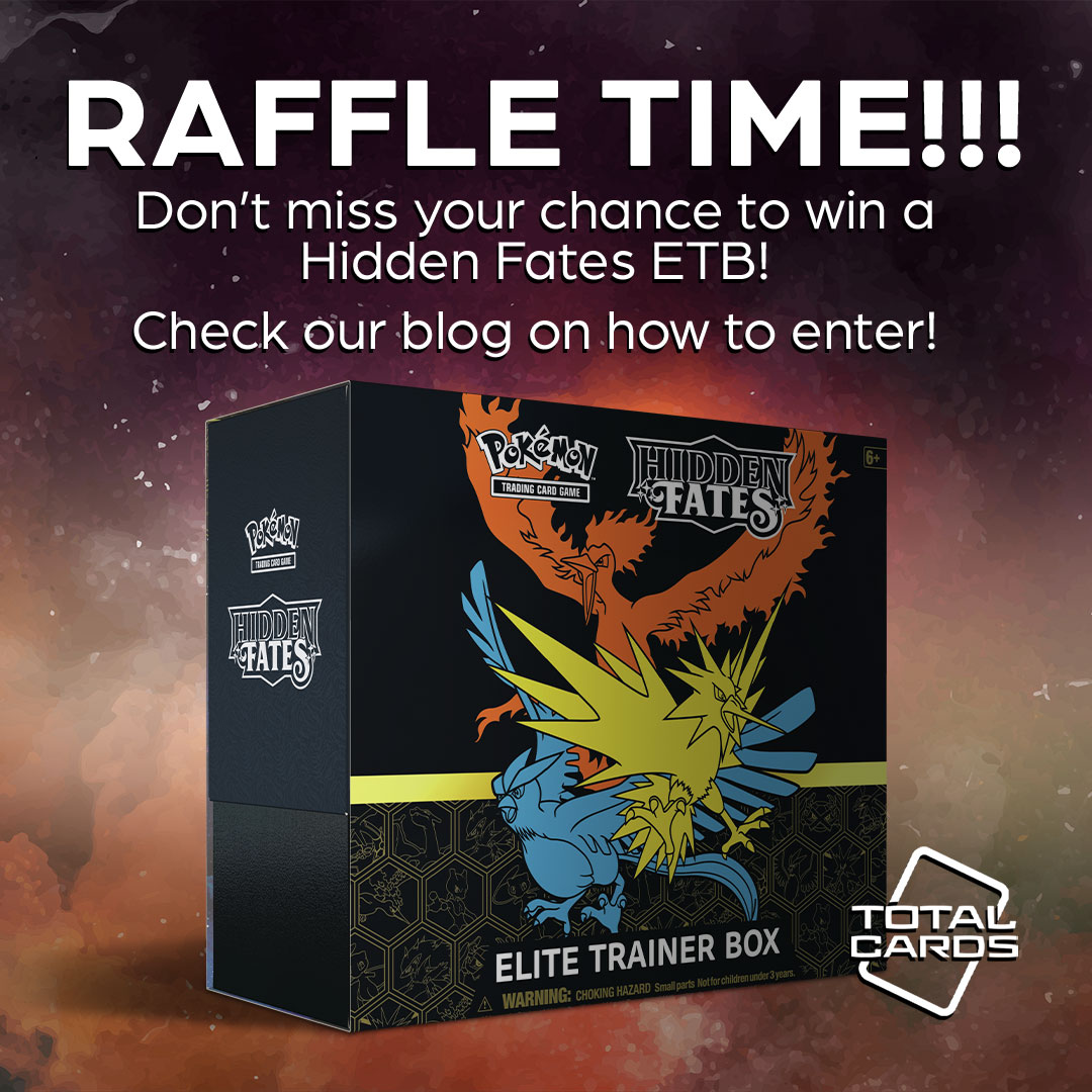 Win an awesome Hidden Fates Elite Trainer Box in our promotional raffle!
