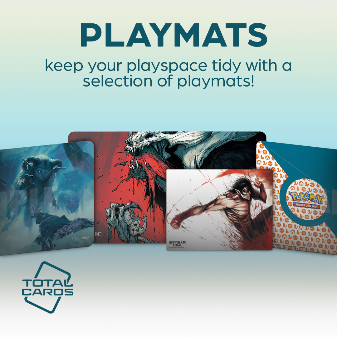 Protect your cards in play with a variety of awesome playmats!