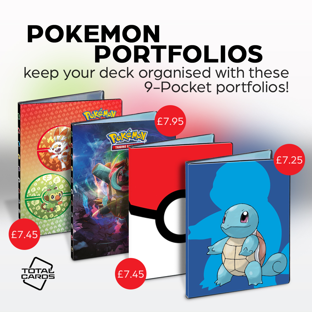 Protect your Pokemon cards with 9-pocket portfolios from Ultra Pro!