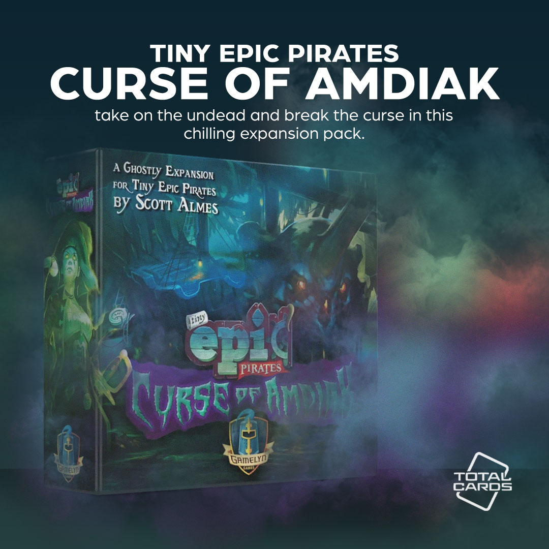 Enhance your game of Tiny Epic Pirates with the Curse of Amdiak!