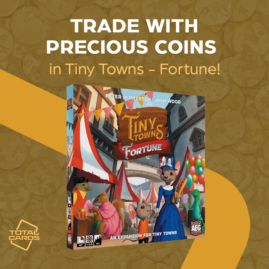 Collect precious coins in Tiny Towns - Fortune!
