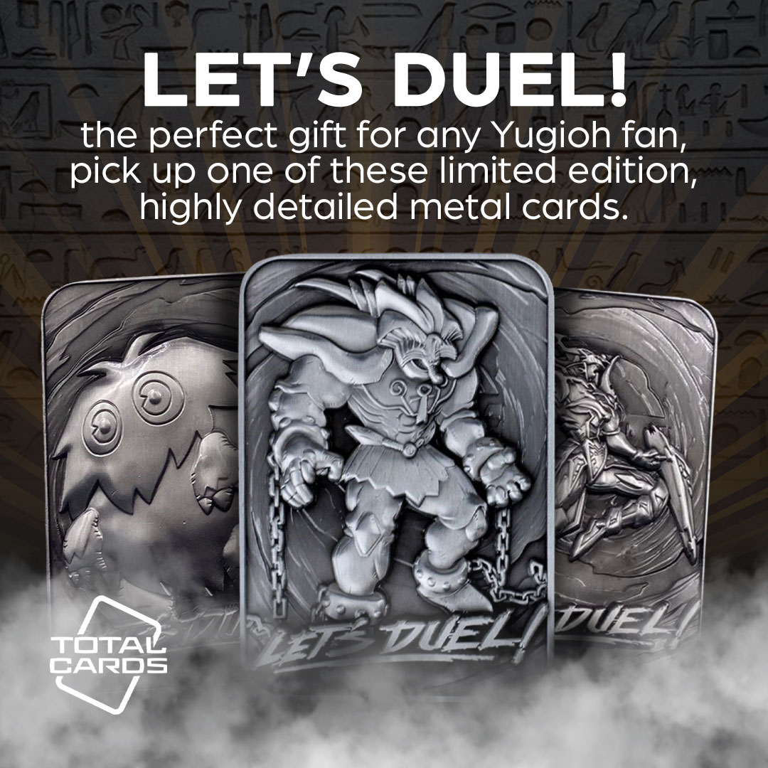 It's Time to Duel with collectable metal cards from Yu-Gi-Oh!